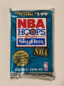 1994-95 Hoops NBA Basketball Series 1 24-Card Jumbo Pack (New Factory Sealed)