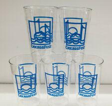 Lot of (5) Vintage Original 1970s Chicagofest Plastic Beer 16 oz Drink Cups