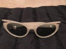 1980s Sunglasses Vintage Cool Ray Polaroid N140 Cari Michelle White Rhinestone