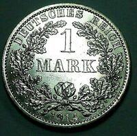 Deutsches Kaiserreich 1 Mark Silber 1914 A - Reichsadler - st / unz