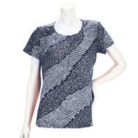 Liz Claiborne New York Printed Soft Pleated Knit Top Sz 1X Plus QVC