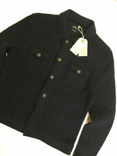 Button Wool Waist Length Bomber, Harrington Men's Coats & Jackets