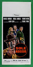 L29 POSTER SUN ROSSO ALAIN DELON TOSHIRO MIFUNE CHARLES BRONSON ANDRESS