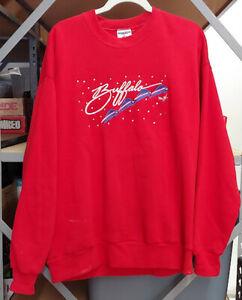 Vintage Buffalo Bills Super Bowl 1990 Christmas Sweater AFC Champions Adult XL