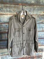 Vintage Cabela's Safari Khaki Long Sleeved Shirt Small Draw String