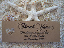 10 Kraft Brown Gift Tags Wedding Favour Bomboniere Thank you Personalised Heart