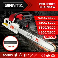 Giantz Petrol Chainsaw Commercial E-Start Bar Tree Pruning Chain Saw Top Handle