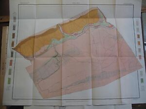 1903 Color Folding Soil Survey Map Lockhaven Pennsylvania Susquehanna Flemington