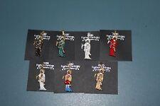 SET 7 PENDANT NECKLACE SANTA MUERTE colgantes metal figures 7 col,green,red,blac