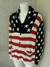 Polo Ralph Lauren Stars & Stripes Flag Cardigan Size XL