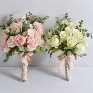Artificial Flowers Roses Bouquets Bride Flowers Bridesmaids Bouquets For Wedding
