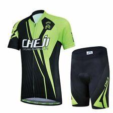 Children Youth Cycling Jersey Set 2019 Trousers short Sleeve Padding Bike