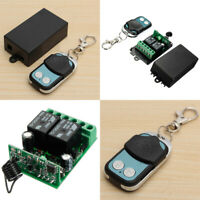 DC 12V 2CH Channel Wireless RF Remote Control Switch Transmitter Receiver 315MHz