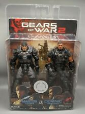 "NECA Gears of War 2 Marcus Fenix Dominick Santiago Dom Sealed NEW 7"" TRU Gold"