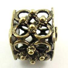 30101 Atq bronze tone cube hollow bead spacer bar jewellry findings  8pcs