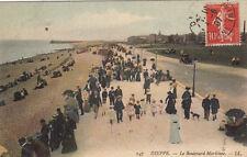 DIEPPE 47 LL le boulevard maritime timbrée 1907
