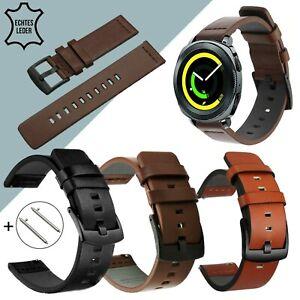 Echtes Leder Armband 22 20 mm für Samsung Galaxy Watch 46mm Active 2 Gear S3 S2
