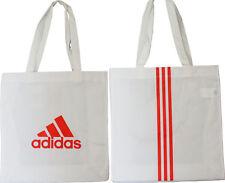 Große adidas Shopper Einkaufs Tasche Bag Tragetasche weiß