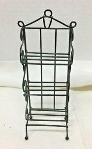 Doll House Miniature Metal Bakers Rack 6 3/4 x 2 3/4 Bakery Display