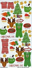 TRIMCRAFT SIMPLY CREATIVE GLITTER STICKERS - CHRISTMAS - THE NIGHT BEFORE
