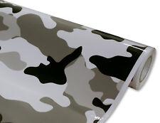 "12"" x 60"" GLOSS Camouflage Camo Snow Urban Printed Vinyl Car Wrap Decal Film"