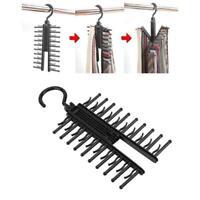 Adjustable 360° Rotating Tie Belt Scarf 20 Hangers Rack Compact Holder Organizer