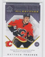 18/19 SP AUTHENTIC...MATTHEW TKACHUK...ROOKIE YEAR MILESTONE...# RYM-MT...FLAMES