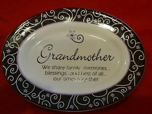 A Gift for Grandmother - A Keepsake Dish Home Accent Ceramic Mothers Day