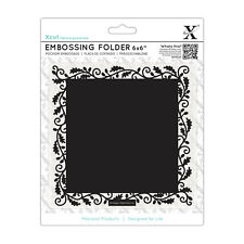 "Docrafts Xcut embossing folder 6x6"" Oak Border Use sizzix Xcut eBosser"