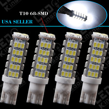 4X HID White Wedge T10 68-SMD Backup Reverse LED Light bulb W5W 194 168 906 2825