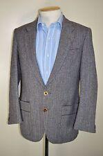 """De Colección Tweed Lana original inglés Tejido Tejido Inteligente Chaqueta Blazer Talla 36"""" pecho"""