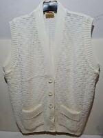 "Vintage Sleeveless Cardigan Gilet Vest Womens Size XOS Large Pit To Pit 22 """