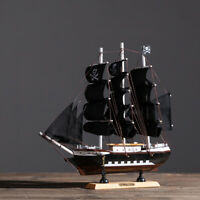 33cm DIY Assembly Pirate Ship Boat Craft  Model Wooden Sailing Boat Toy Gift