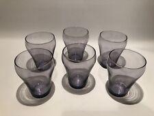"""6 IKEA Torstig 4"""" Capri Glasses Cups Tumblers 9 oz"""