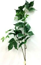 "Boston Ivy Greenery Spray Stem. Green. Silk/Artificial. 45"" Tall"