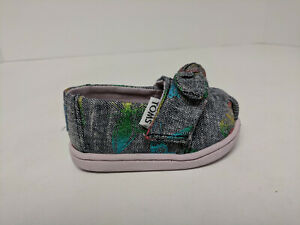 Toms Classic Slip-on Shoes, Butterfly Print, Infants 2 M
