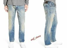 NWT PRPS Goods JAPAN Demon Slim Straight Leg Men Jeans 36 x 34 FADED $325