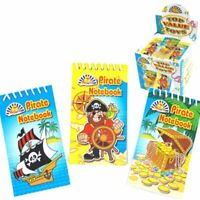 Mini Pirate Notebooks - Perfect For Pirate Theme Party Bag Filler Travel