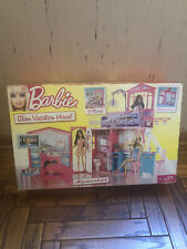 Barbie Glam Vacation Beach House Mattel Folding House  W/Furniture & Accessories