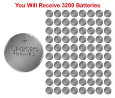 3200x Toshiba CR2025 Batteries 3v Lithium Coin Battery Bulk Wholesale Lot FRESH