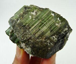 Green Tourmaline Natural Crystal Specimen Brazil 162 grams