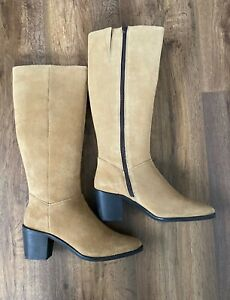 LADIES KALEIDOSCOPE SUEDE LEATHER  KNEE HIGH BOOTS UK 7 NEW