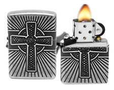 Zippo 29667 Armor Celtic Cross Design Antique Silver Plated Windproof Lighter