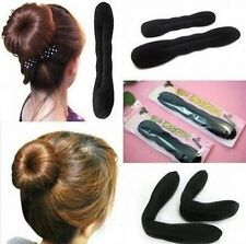 2 pcs Magic Sponge Clip Foam Donut Hair Styling Bun Curler Tool Maker Ring Twist