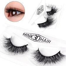 Makeup 3D Mink Natural Thick False Fake Eyelashes hand made Lashes Extension