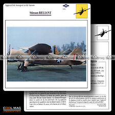 #074.20 STINSON RELIANT - Fiche Avion Airplane Card