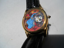 DISNEY THE SWORD IN THE STONE MEN'S BLK LEATHER WATCH LIMITED EDITION 1187/7500