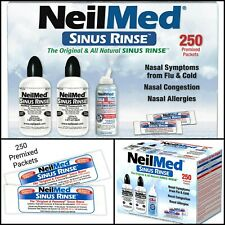 NeilMed Sinus Rinse Kit 250 Packets + Free 2 Bottles + Nasa Mist Saline Spray