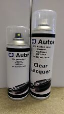 SPRAY PAINT + CLEAR LACQUER AEROSOL CANS CUSTOM CAR COLOUR CODE MATCHED MIXED