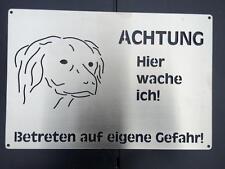 Kooiker Redriever Hundewarnschild gebürstetem Edelstahl 20x30cm Hundeschild (A9)